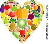 vegetable heart | Shutterstock .eps vector #255030349
