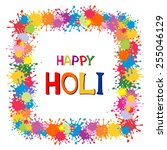indian festival happy holi... | Shutterstock .eps vector #255046129