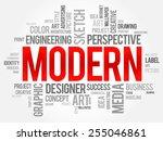 modern word cloud  business... | Shutterstock .eps vector #255046861