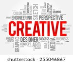 creative word cloud  business... | Shutterstock .eps vector #255046867