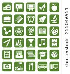icons education.  icons with... | Shutterstock .eps vector #255046951