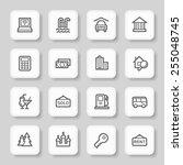 travel web icons set | Shutterstock .eps vector #255048745