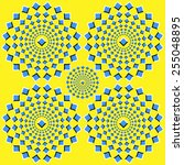 the optical illusion of... | Shutterstock . vector #255048895