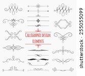 graphic elements calligraphic... | Shutterstock .eps vector #255055099