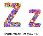 flower alphabet isolated on... | Shutterstock . vector #255067747