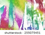 watercolor effect pattern with... | Shutterstock . vector #255075451