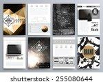 set of design templates for... | Shutterstock .eps vector #255080644