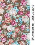 fabric textile pattern with... | Shutterstock . vector #255081649