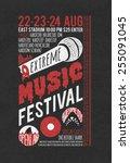music festival poster... | Shutterstock .eps vector #255091045