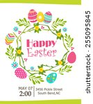 happy easter card | Shutterstock .eps vector #255095845