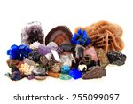 gems and mineral collection... | Shutterstock . vector #255099097