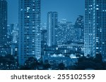 bangkok cityscape river view at ... | Shutterstock . vector #255102559