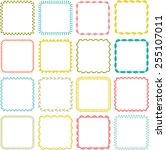 square frames | Shutterstock .eps vector #255107011