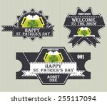 happy tickets of the st.... | Shutterstock .eps vector #255117094