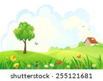 vector illustration of a... | Shutterstock .eps vector #255121681