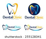 dental logo design.creative ... | Shutterstock .eps vector #255128341