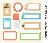 vector cardboard tags and... | Shutterstock .eps vector #255139939