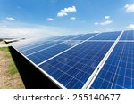 solar panel with blue sky  | Shutterstock . vector #255140677