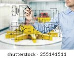 electrical engineer draws a... | Shutterstock . vector #255141511