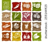 spice icon set   2 | Shutterstock .eps vector #255144925