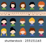 Set Of Diverse Colored Vector...