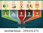 business flow chart vector... | Shutterstock .eps vector #255151171