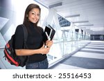 young asian student in a modern ... | Shutterstock . vector #25516453