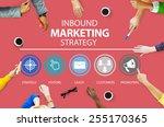 inbound marketing strategy... | Shutterstock . vector #255170365