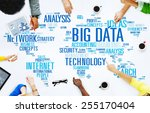 big data storage information... | Shutterstock . vector #255170404
