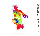 image with color silhouette of... | Shutterstock . vector #255172861
