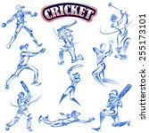 vector illustration of cricket... | Shutterstock .eps vector #255173101