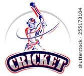 vector illustration of cricket...   Shutterstock .eps vector #255173104