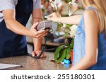 mobile payment with smartphone... | Shutterstock . vector #255180301