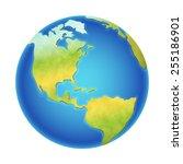 vector illustration of earth... | Shutterstock .eps vector #255186901