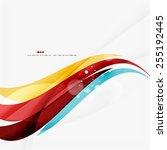 blue  orange  red swirl wave...   Shutterstock . vector #255192445