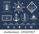 set of nautical logos  badges... | Shutterstock .eps vector #255207817
