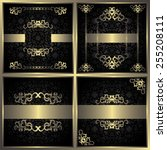 set of four luxury invitations. ... | Shutterstock .eps vector #255208111