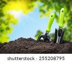 Tools Garden Soil On Nature...