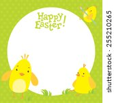 Easter Postcard With Cute...