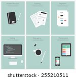 programming and coding  website ... | Shutterstock .eps vector #255210511
