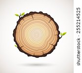 tree growth rings logo icon ... | Shutterstock .eps vector #255214525