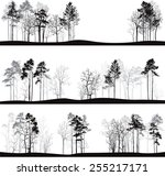set of different landscapes...   Shutterstock .eps vector #255217171