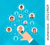 concept of building social... | Shutterstock .eps vector #255219829