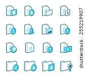 blue document and folder vector ... | Shutterstock .eps vector #255219907