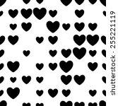 seamless heart pattern. vector... | Shutterstock .eps vector #255221119