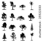 set of trees | Shutterstock . vector #25522333