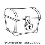 vector illustration of a locked ... | Shutterstock .eps vector #255224779