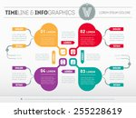 web template for circle diagram ... | Shutterstock .eps vector #255228619