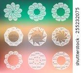 Set Of Transparent Circular...