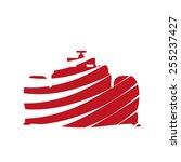 abstract racing car | Shutterstock .eps vector #255237427